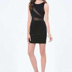 Bebe Jessi Mesh Inset Dress NWT